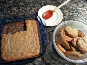 Whatcha got cookin'? Blondies, gravy spoon, cookies