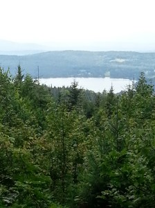 View of Caspian Lake from top of Barr Hill