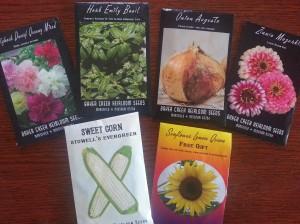 Seeds from Baker Creek