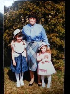 Me, Grandmom C., my sister